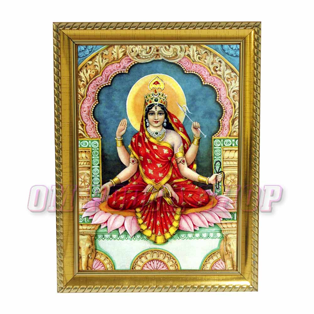Bhuvaneshwari Mata Photo in Wooden Frame
