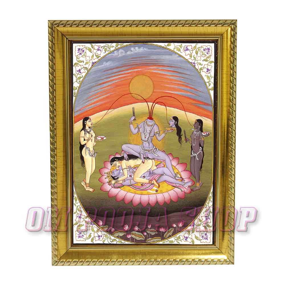 Chinnamasta Devi Photo in Wooden Frame