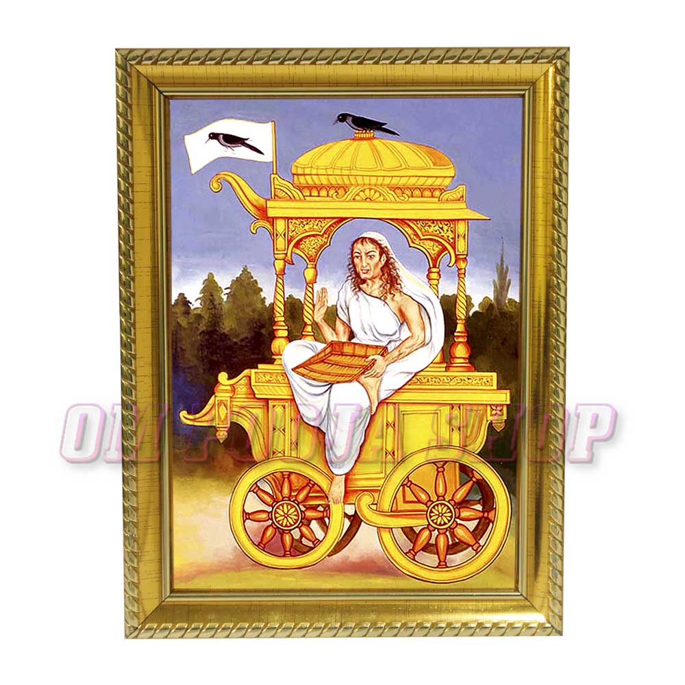 Dhumavati Mata Photo in Wooden Frame