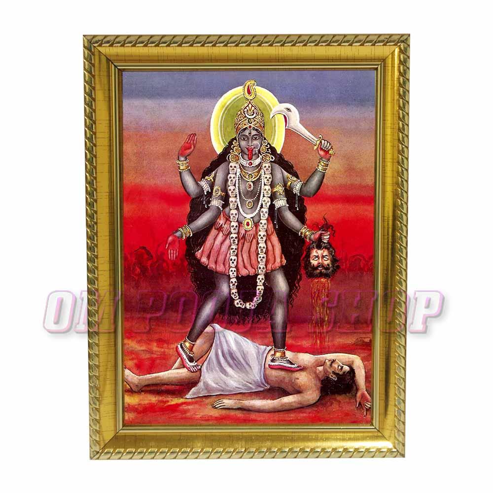 Goddess Tara Devi Photo in Wooden Frame