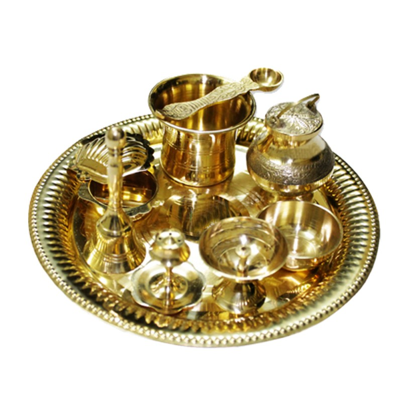 Puja thali buy special pooja thalis supplier online from india puja thali in brass mightylinksfo