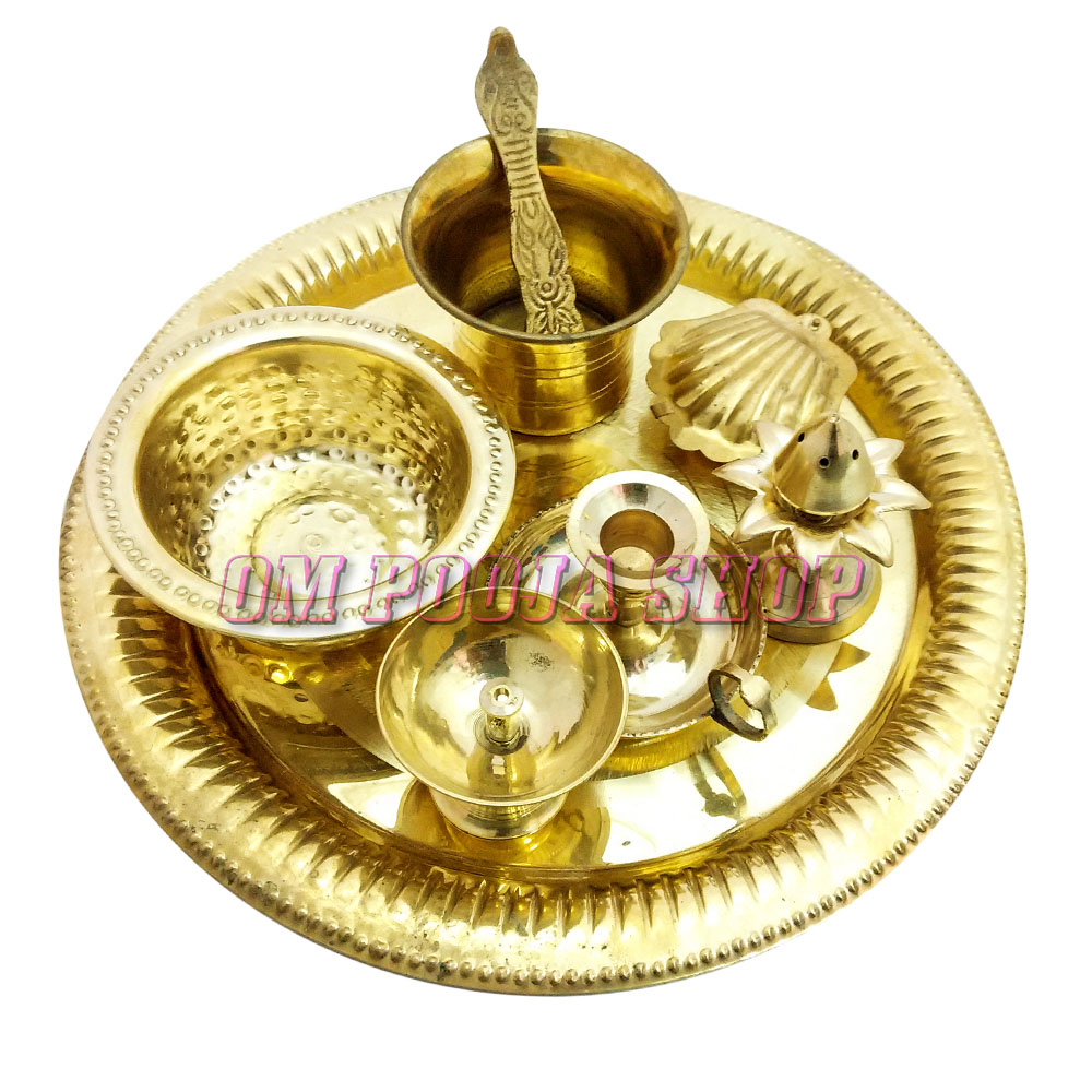 Arpan Offering Pooja Thali in Brass