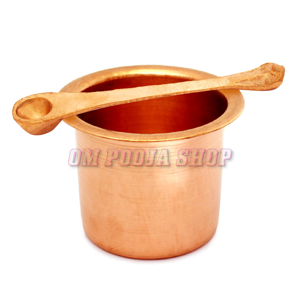 Panch Patra with Palli in Copper