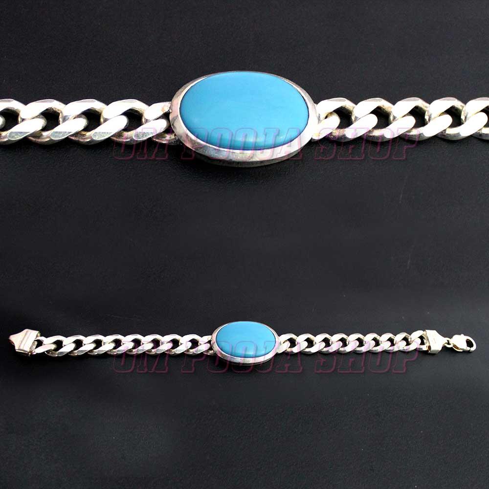 Salman Khan Orignal Turquoise (Firoza) Silver Bracelet