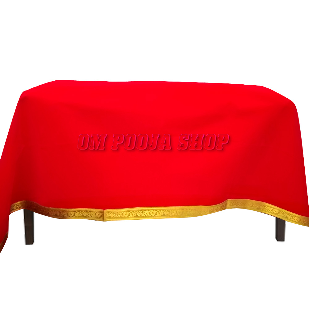 Velvet Table Cloth - Red Color