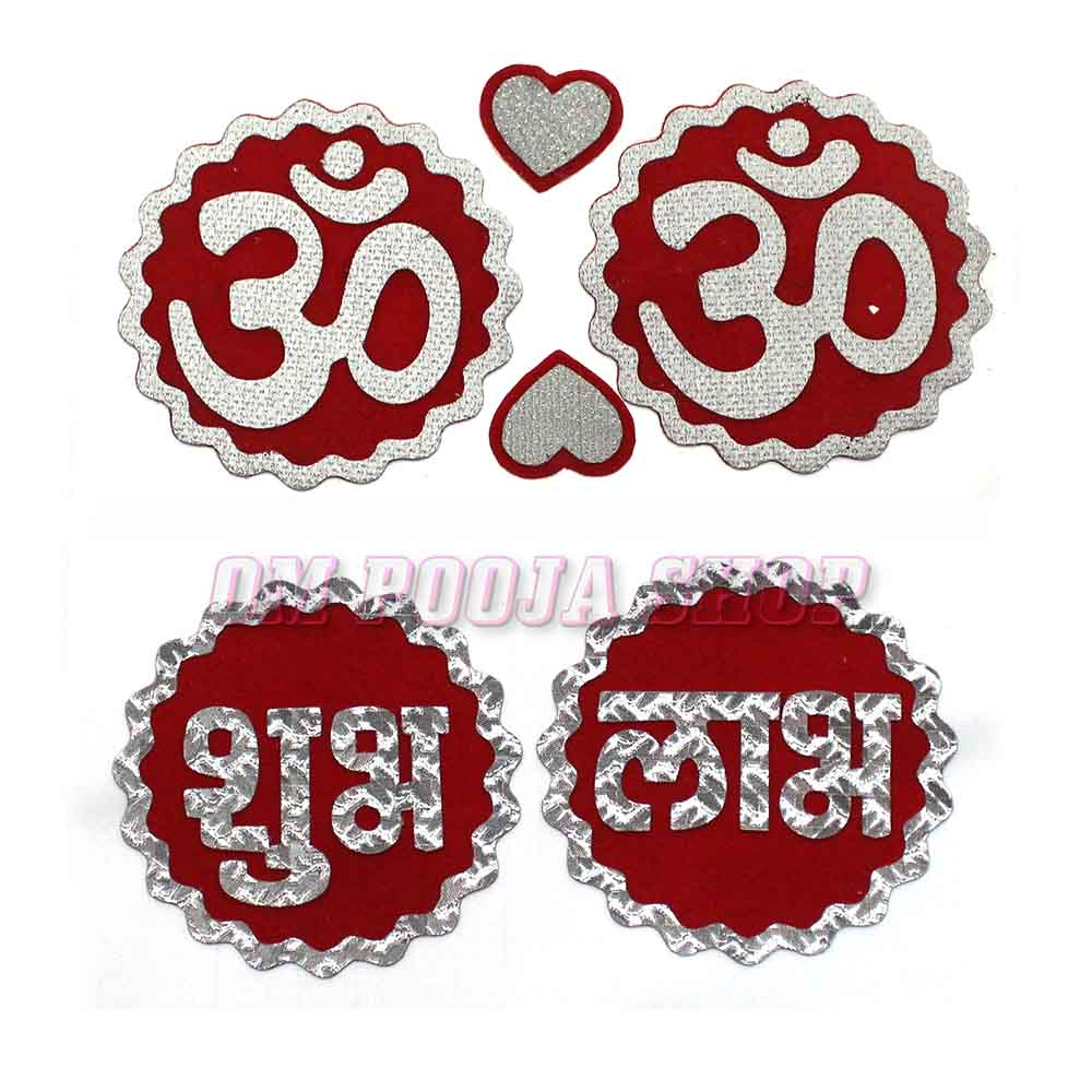 Om Shubh Labh Sticker for Decor