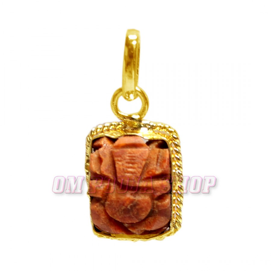 Gemstone Rosary Chain with Ganesh Pendant