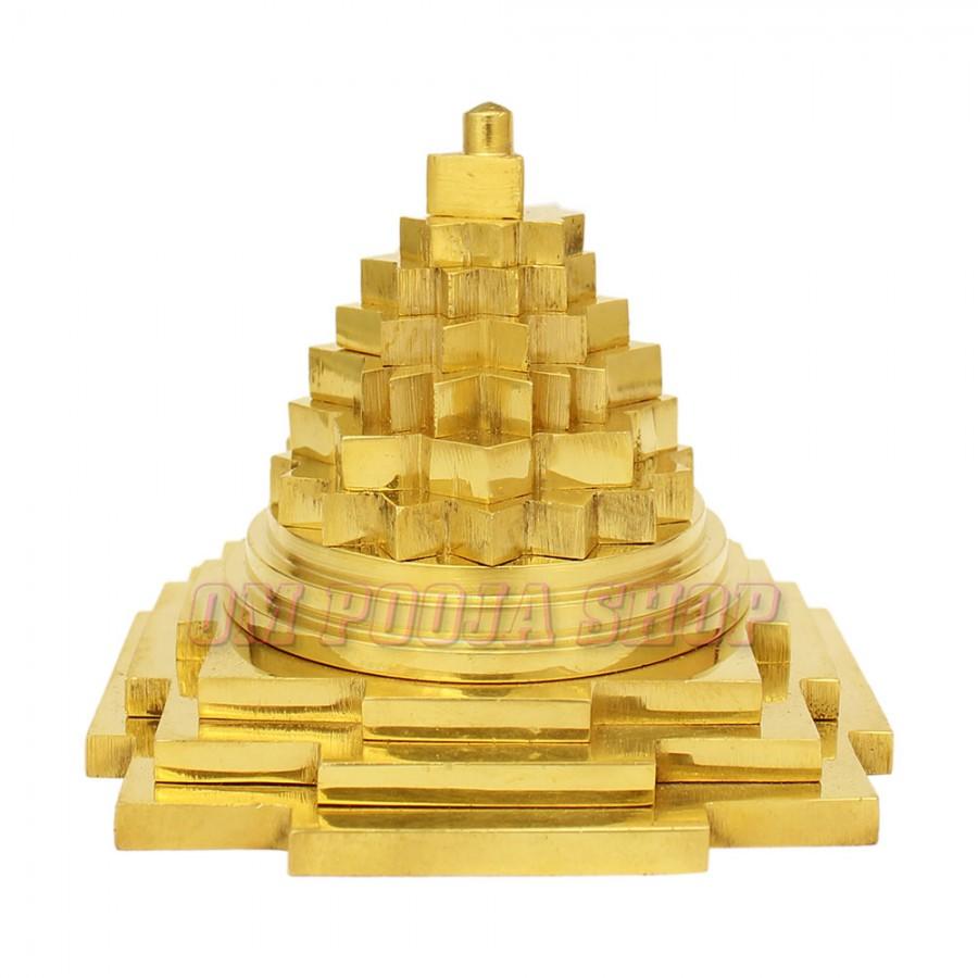 Meru Shree Yantra in Brass Buy online at best price - Om