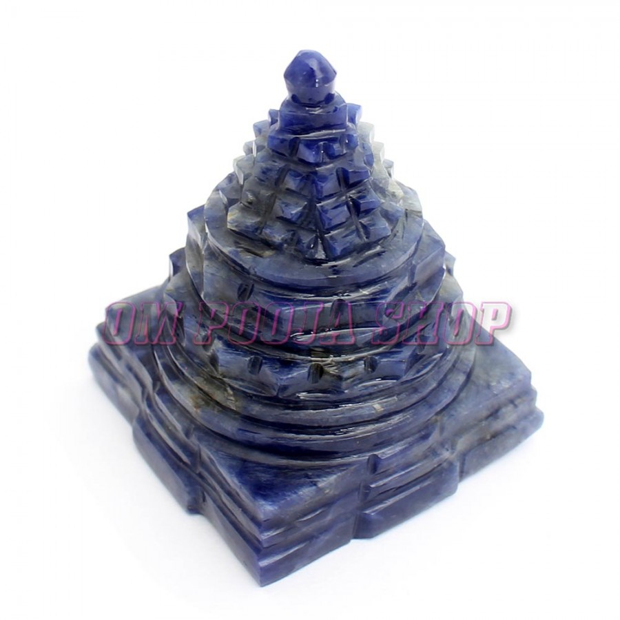 Shree Yantra in Lapis Lazuli Gemstone online @ USA UK